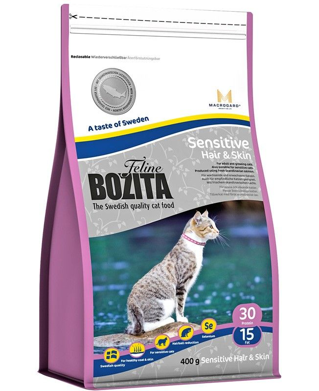 Сухой корм для кошек ​Bozita Feline Funktion Sensitive Hair & Ski