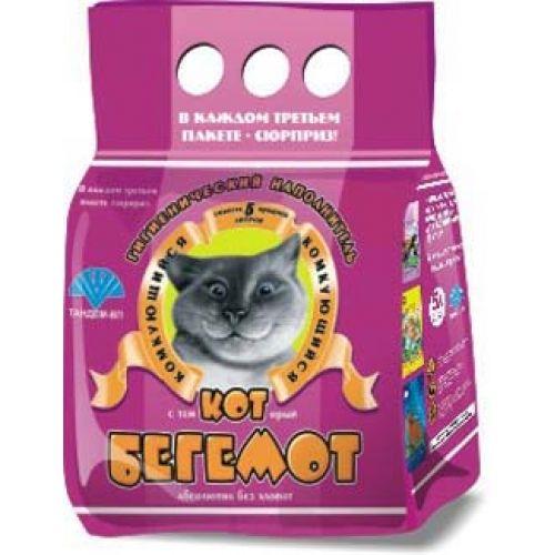 Наполнитель для кошачьего туалета Кот Бегемот комкующийся