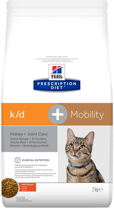 Сухой корм Hills PRESCRIPTION DIET для кошек с заболеваниями почек и суставов CANINE K/D™ + MOBILITY